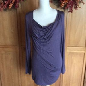 Grey runched front top